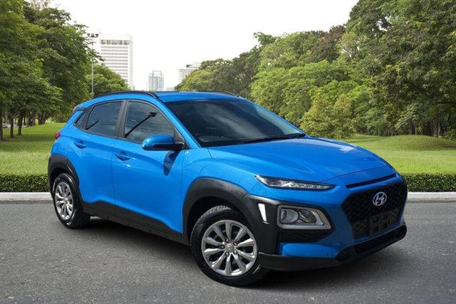 Used Hyundai Kona OS.2 MY19 Go 2WD Paradise, 2019 Hyundai Kona OS.2 MY19 Go 2WD Blue 6 Speed Sports Automatic Wagon