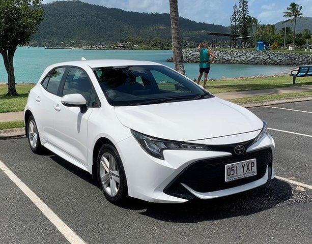 Used Toyota Corolla Mzea12R Ascent Sport Proserpine, 2019 Toyota Corolla Mzea12R Ascent Sport White Automatic Hatchback