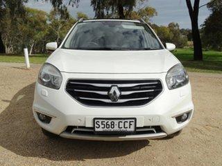 2013 Renault Koleos H45 Phase II Privilege White 1 Speed Constant Variable Wagon.
