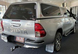 2017 Toyota Hilux GUN126R SR5 Extra Cab Silver 6 Speed Manual Utility.