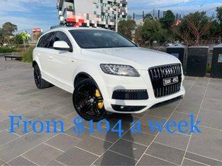 2013 Audi Q7 MY13 TDI Tiptronic Quattro White 8 Speed Sports Automatic Wagon.
