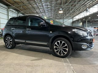 2012 Nissan Dualis J107 Series 3 MY12 +2 Hatch X-tronic 2WD Ti-L Black 6 Speed Constant Variable.
