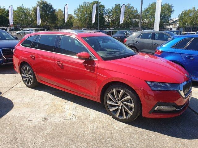 Demo Skoda Octavia NX MY21 110TSI Style Hamilton, 2021 Skoda Octavia NX MY21 110TSI Style Velvet Red 8 Speed Automatic Wagon