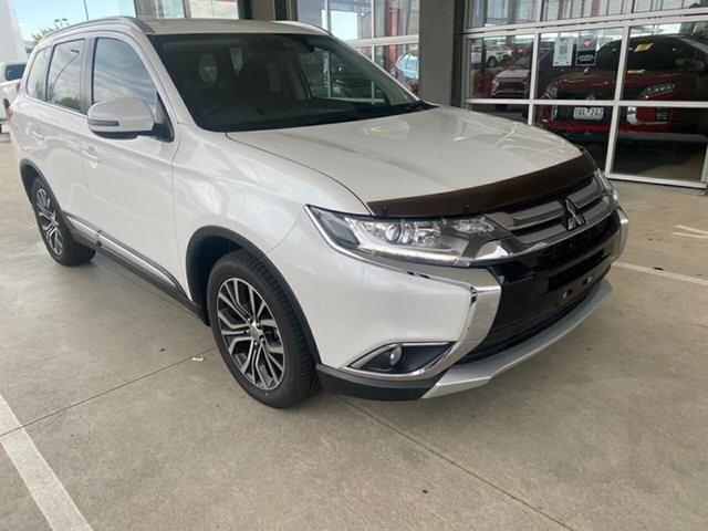 Used Mitsubishi Outlander ZK MY18 LS AWD Safety Pack Essendon North, 2017 Mitsubishi Outlander ZK MY18 LS AWD Safety Pack White 6 Speed Sports Automatic Wagon