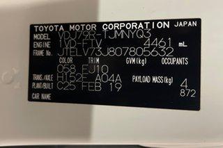 2019 Toyota Landcruiser VDJ79R GXL White 5 speed Manual Cab Chassis