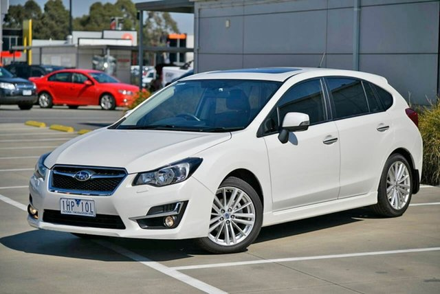 Used Subaru Impreza G4 MY16 2.0i-S Lineartronic AWD Pakenham, 2016 Subaru Impreza G4 MY16 2.0i-S Lineartronic AWD White 6 Speed Constant Variable Hatchback
