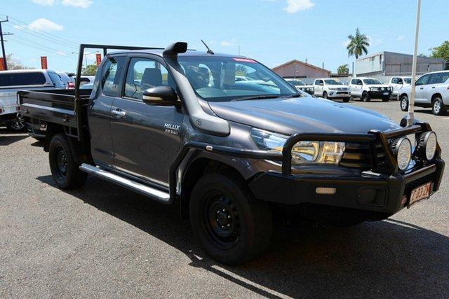 Used Toyota Hilux GUN126R SR Extra Cab Winnellie, 2016 Toyota Hilux GUN126R SR Extra Cab Grey 6 Speed Manual Utility