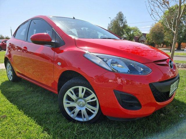 Used Mazda 2 DE10Y1 MY10 Neo Hindmarsh, 2011 Mazda 2 DE10Y1 MY10 Neo True Red 4 Speed Automatic Hatchback