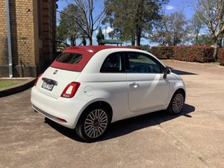 2018 Fiat 500C Series 6 Lounge Dualogic White 5 Speed Sports Automatic Single Clutch Convertible