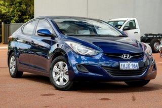 2013 Hyundai Elantra MD2 Active Blue 6 Speed Sports Automatic Sedan.