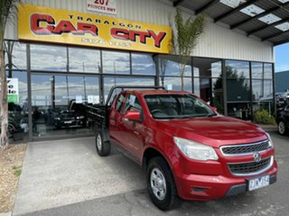 2012 Holden Colorado RC MY11 LX (4x4) Red 5 Speed Manual Space Cab Chassis.