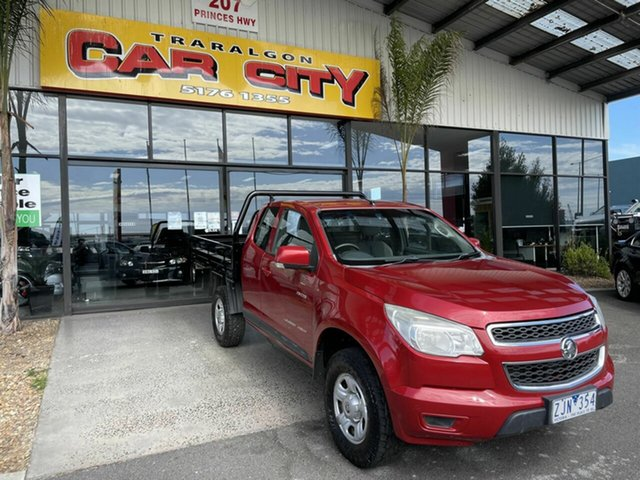 Used Holden Colorado RC MY11 LX (4x4) Traralgon, 2012 Holden Colorado RC MY11 LX (4x4) Red 5 Speed Manual Space Cab Chassis