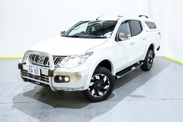 Used Mitsubishi Triton MQ MY17 Exceed Double Cab Canning Vale, 2016 Mitsubishi Triton MQ MY17 Exceed Double Cab White 5 Speed Sports Automatic Utility