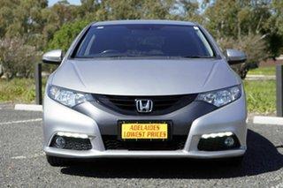 2013 Honda Civic 9th Gen MY13 VTi-L Silver 5 Speed Sports Automatic Hatchback.