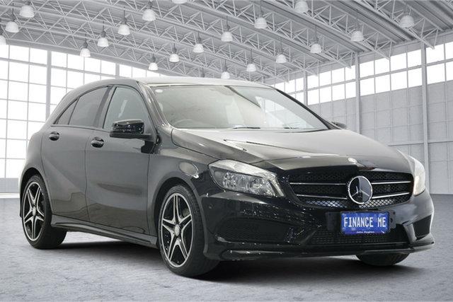 Used Mercedes-Benz A-Class W176 A200 DCT Victoria Park, 2014 Mercedes-Benz A-Class W176 A200 DCT Black 7 Speed Sports Automatic Dual Clutch Hatchback