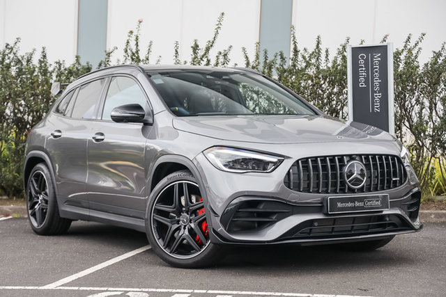 Certified Pre-Owned Mercedes-Benz GLA-Class H247 801+051MY GLA45 AMG SPEEDSHIFT DCT 4MATIC+ S Mulgrave, 2020 Mercedes-Benz GLA-Class H247 801+051MY GLA45 AMG SPEEDSHIFT DCT 4MATIC+ S Mountain Grey 8 Speed