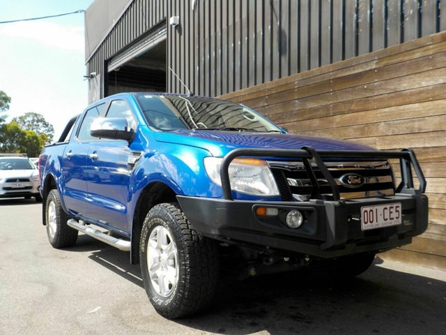 Used Ford Ranger PX XLT Double Cab Labrador, 2014 Ford Ranger PX XLT Double Cab Blue 6 Speed Sports Automatic Utility