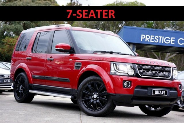 Used Land Rover Discovery Series 4 L319 MY16 TDV6 Balwyn, 2015 Land Rover Discovery Series 4 L319 MY16 TDV6 Firenze Red 8 Speed Sports Automatic Wagon