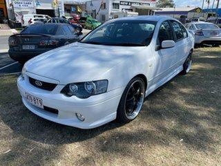 2004 Ford Falcon BA Mk II XR8 White 4 Speed Sports Automatic Sedan.