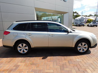 2012 Subaru Outback B5A MY12 2.5i Lineartronic AWD Sunlight Gold D6h 6 Speed Constant Variable Wagon.