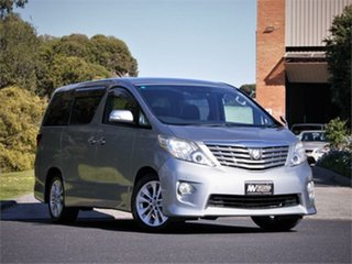 2010 Toyota Alphard ANH20W 240S Silver Constant Variable Van Wagon.