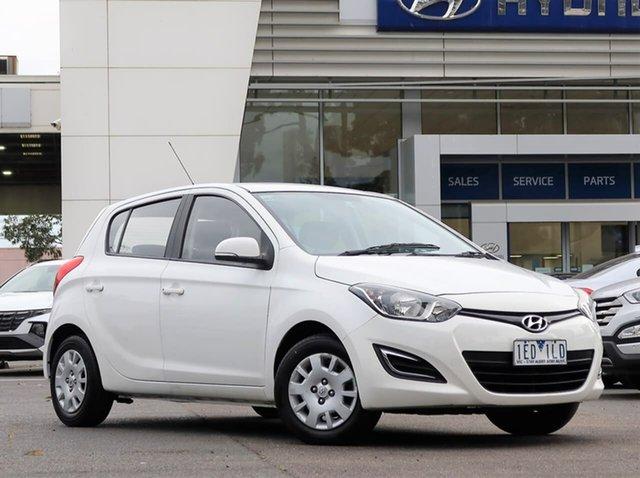 Used Hyundai i20 PB MY14 Active South Melbourne, 2014 Hyundai i20 PB MY14 Active White 4 Speed Automatic Hatchback
