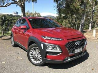 2019 Hyundai Kona OS.3 MY20 Elite 2WD Red 6 Speed Sports Automatic Wagon.