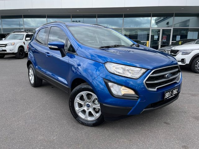 Used Ford Ecosport BL 2020.00MY Trend Essendon Fields, 2019 Ford Ecosport BL 2020.00MY Trend Blue 6 Speed Automatic Wagon