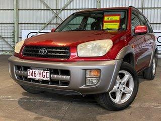 2003 Toyota RAV4 ACA21R Cruiser Red 4 Speed Automatic Wagon.