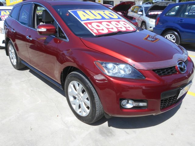 Used Mazda CX-7 ER1032 Luxury Activematic Sports Springwood, 2009 Mazda CX-7 ER1032 Luxury Activematic Sports Red 6 Speed Sports Automatic Wagon