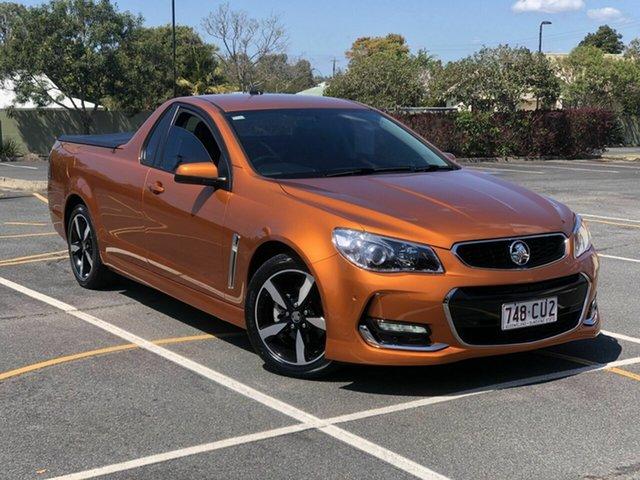 Used Holden Ute VF II MY17 SV6 Ute Chermside, 2017 Holden Ute VF II MY17 SV6 Ute Orange 6 Speed Sports Automatic Utility