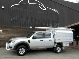 2011 Ford Ranger PK XL Crew Cab Silver 5 Speed Manual Cab Chassis