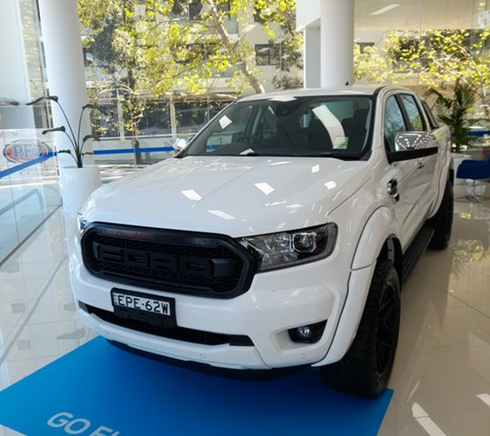 Demo Ford Ranger PX MkIII 2021.25MY XLT Homebush, 2021 Ford Ranger PX MkIII 2021.25MY XLT Arctic White 10 Speed Sports Automatic Double Cab Pick Up
