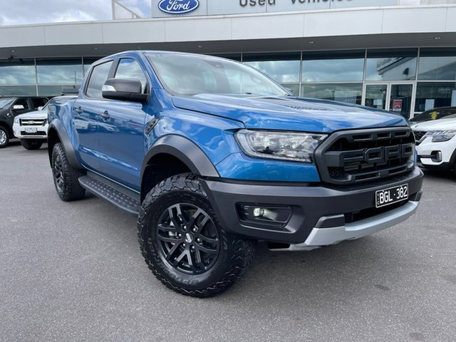 Used Ford Ranger PX MkIII 2020.25MY Raptor Essendon Fields, 2020 Ford Ranger PX MkIII 2020.25MY Raptor Blue 10 Speed Sports Automatic Double Cab Pick Up