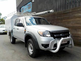2011 Ford Ranger PK XL Crew Cab Silver 5 Speed Manual Cab Chassis.