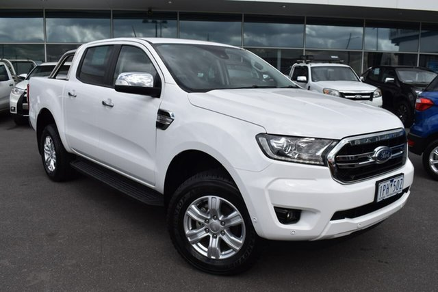 Used Ford Ranger PX MkIII 2019.00MY XLT Essendon Fields, 2019 Ford Ranger PX MkIII 2019.00MY XLT White 6 Speed Sports Automatic Super Cab Pick Up