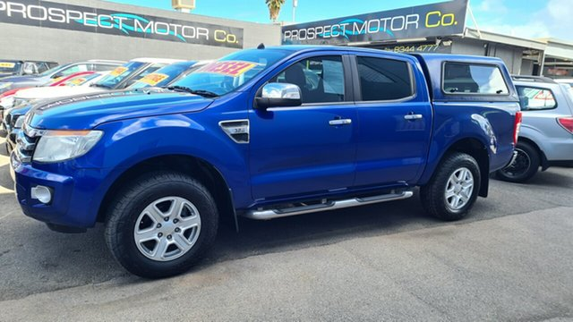 Used Ford Ranger PX XLT 3.2 (4x4) Prospect, 2013 Ford Ranger PX XLT 3.2 (4x4) Blue 6 Speed Automatic Dual Cab Utility