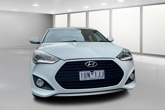 Used Hyundai Veloster FS2 SR Coupe Turbo West Footscray, 2013 Hyundai Veloster FS2 SR Coupe Turbo Pearl White 6 Speed Sports Automatic Hatchback