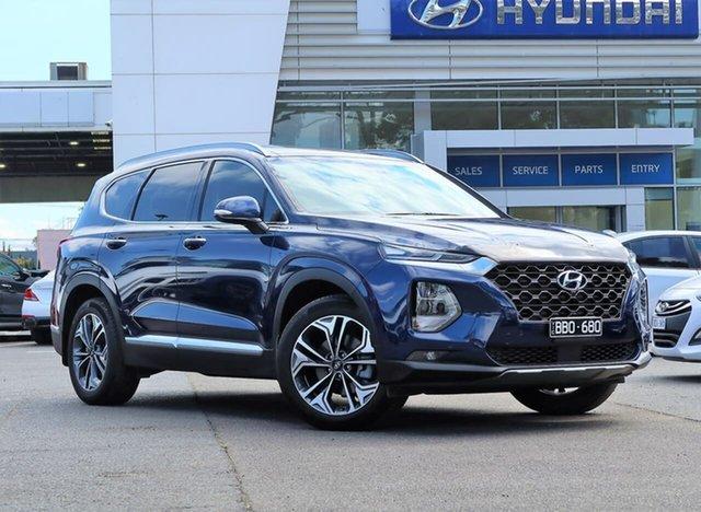 Used Hyundai Santa Fe TM.2 MY20 Highlander South Melbourne, 2019 Hyundai Santa Fe TM.2 MY20 Highlander Blue 8 Speed Sports Automatic Wagon