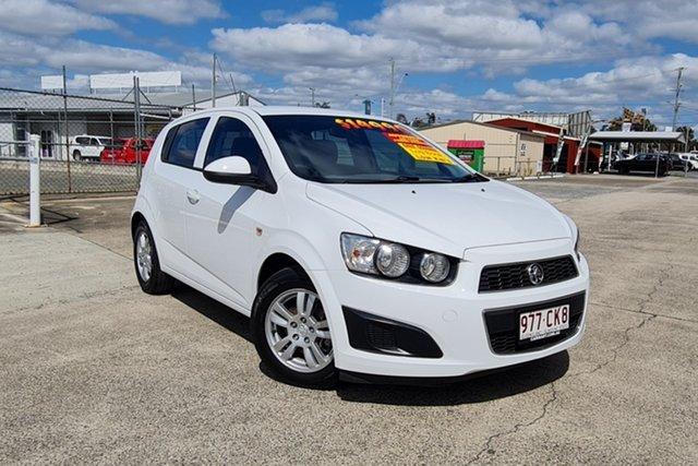 Used Holden Barina TM MY16 CD Morayfield, 2015 Holden Barina TM MY16 CD White 6 Speed Automatic Hatchback