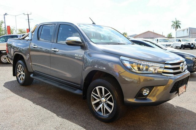 Used Toyota Hilux GUN126R SR5 Double Cab Winnellie, 2018 Toyota Hilux GUN126R SR5 Double Cab Grey 6 Speed Sports Automatic Utility