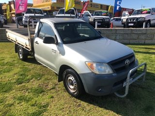 2005 Toyota Hilux TGN16R MY05 Workmate 4x2 Silver 5 Speed Manual Cab Chassis.