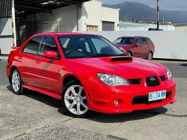 Used Subaru Impreza S MY06 WRX AWD Moonah, 2006 Subaru Impreza S MY06 WRX AWD Red 5 Speed Manual Sedan