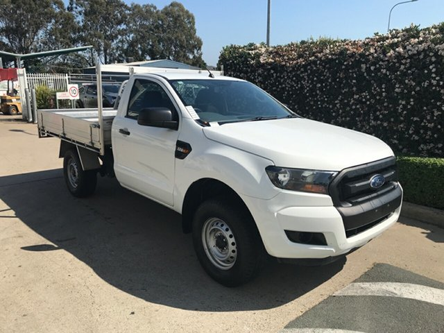 Used Ford Ranger PX MkII 2018.00MY XL Hi-Rider Acacia Ridge, 2018 Ford Ranger PX MkII 2018.00MY XL Hi-Rider White 6 speed Automatic Cab Chassis