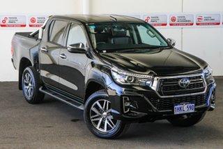 2019 Toyota Hilux GUN126R SR5 Double Cab Eclipse Black 6 Speed Sports Automatic Utility.