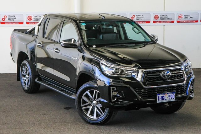 Pre-Owned Toyota Hilux GUN126R SR5 Double Cab Rockingham, 2019 Toyota Hilux GUN126R SR5 Double Cab Eclipse Black 6 Speed Sports Automatic Utility