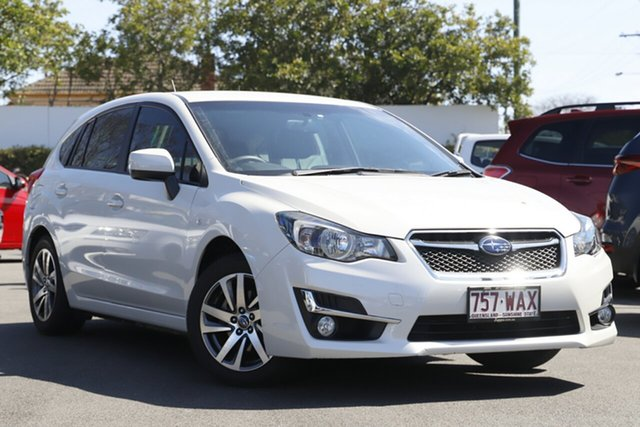 Used Subaru Impreza G4 MY15 2.0i Lineartronic AWD Premium Mount Gravatt, 2015 Subaru Impreza G4 MY15 2.0i Lineartronic AWD Premium Crystal White 6 Speed Constant Variable