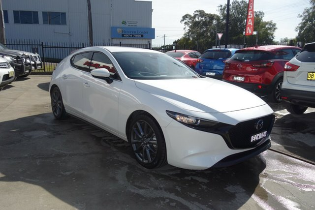 Used Mazda 3 BP2H7A G20 SKYACTIV-Drive Touring East Maitland, 2019 Mazda 3 BP2H7A G20 SKYACTIV-Drive Touring White 6 Speed Sports Automatic Hatchback