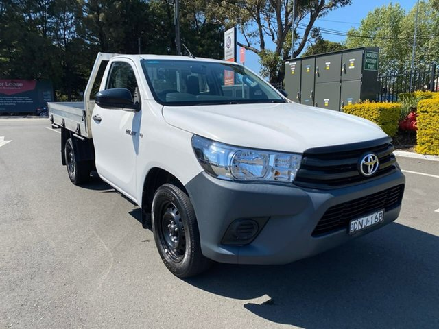 Used Toyota Hilux TGN121R Workmate 4x2 Botany, 2017 Toyota Hilux TGN121R Workmate 4x2 White 5 Speed Manual Cab Chassis