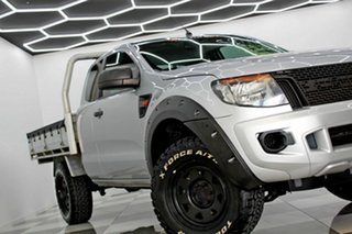 2014 Ford Ranger PX XL 2.2 Hi-Rider (4x2) Silver 6 Speed Automatic Super Cab Chassis.